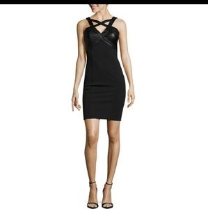 42414745e0 Black sexy harness front dress
